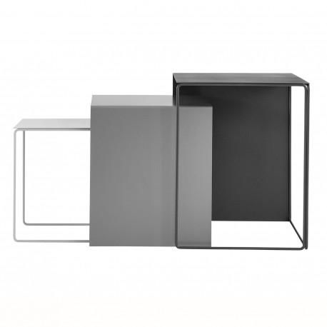 Tables basses en métal gris Cluster