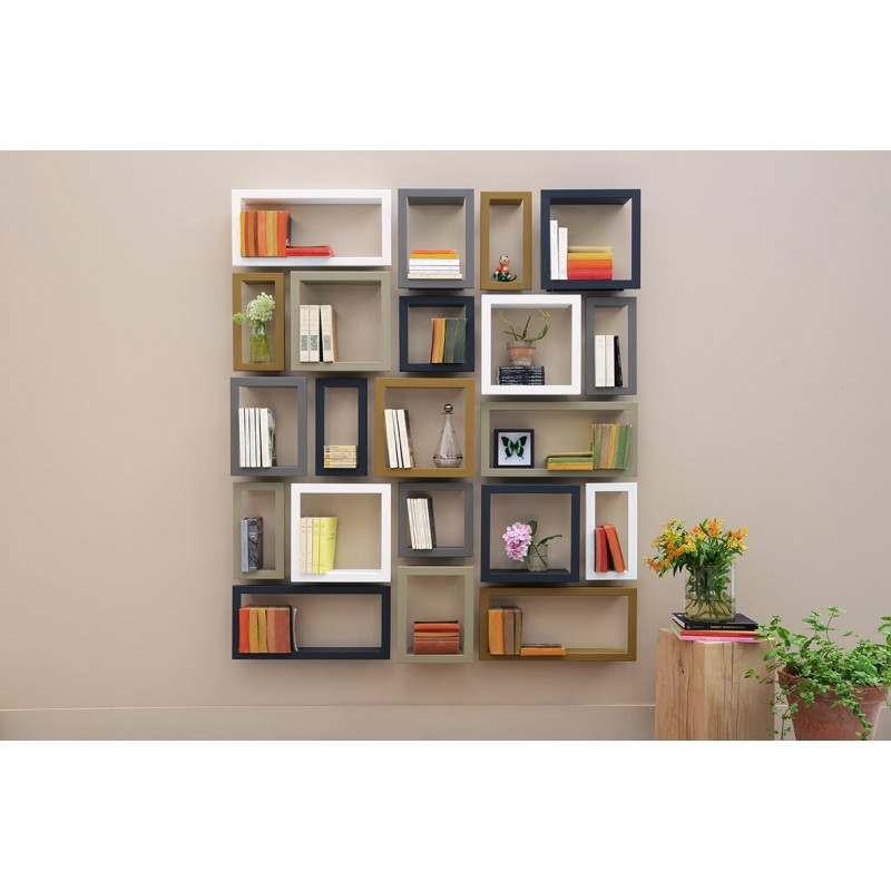 Etag re murale design highstick etagere presse citron chez pure deco - Etagere metal design ...