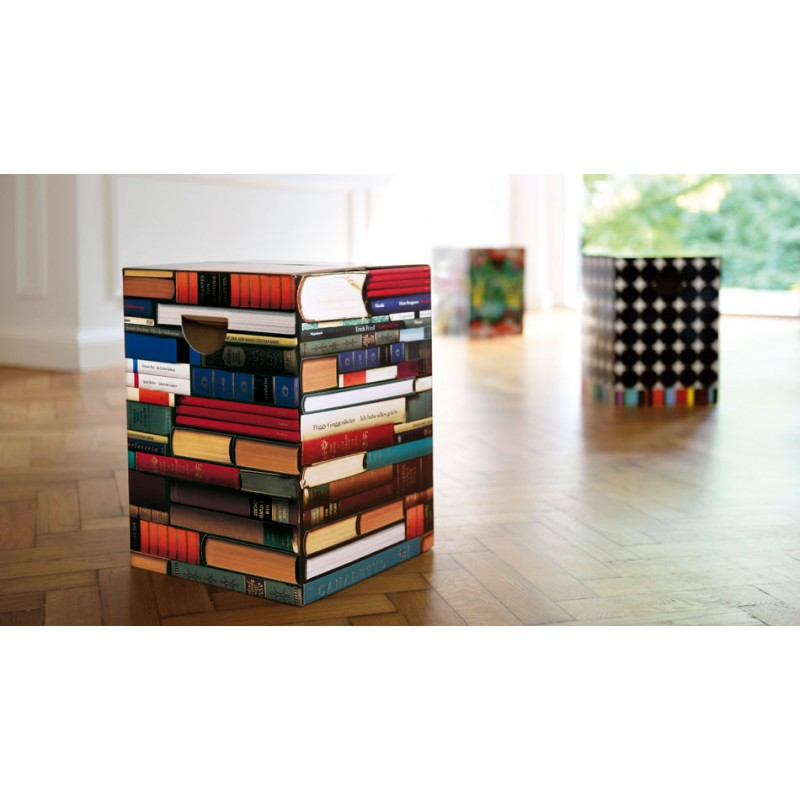 tabouret livres trompe l 39 oeil remember. Black Bedroom Furniture Sets. Home Design Ideas