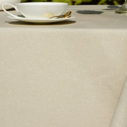 Golden glitter coated cotton tablecloth