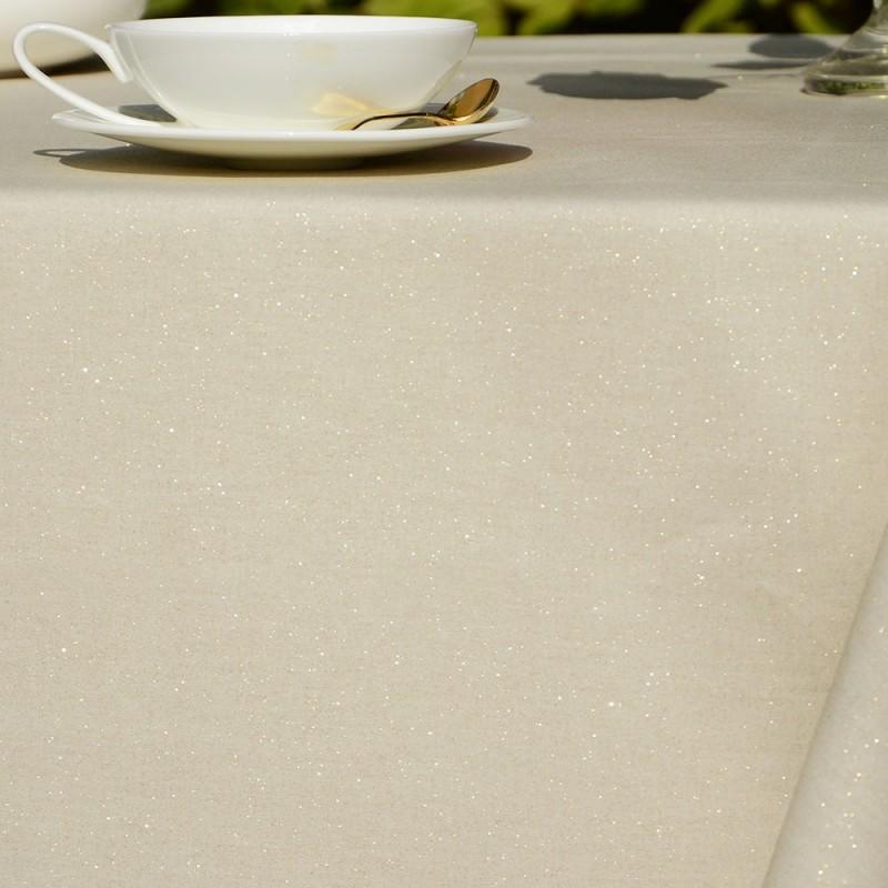 nappe enduite dor e paillettes par fleur de soleil. Black Bedroom Furniture Sets. Home Design Ideas
