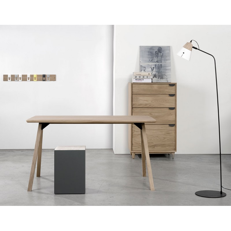 table de repas design en chene massif table flow universo positivo. Black Bedroom Furniture Sets. Home Design Ideas