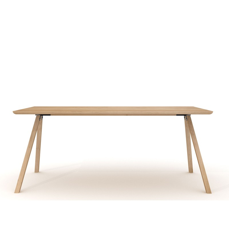 Table de repas design en chene massif table flow for Table repas