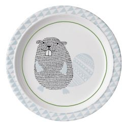 Assiette plate Noah Bloomingville