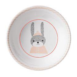 Assiette creuse pour enfants lapin