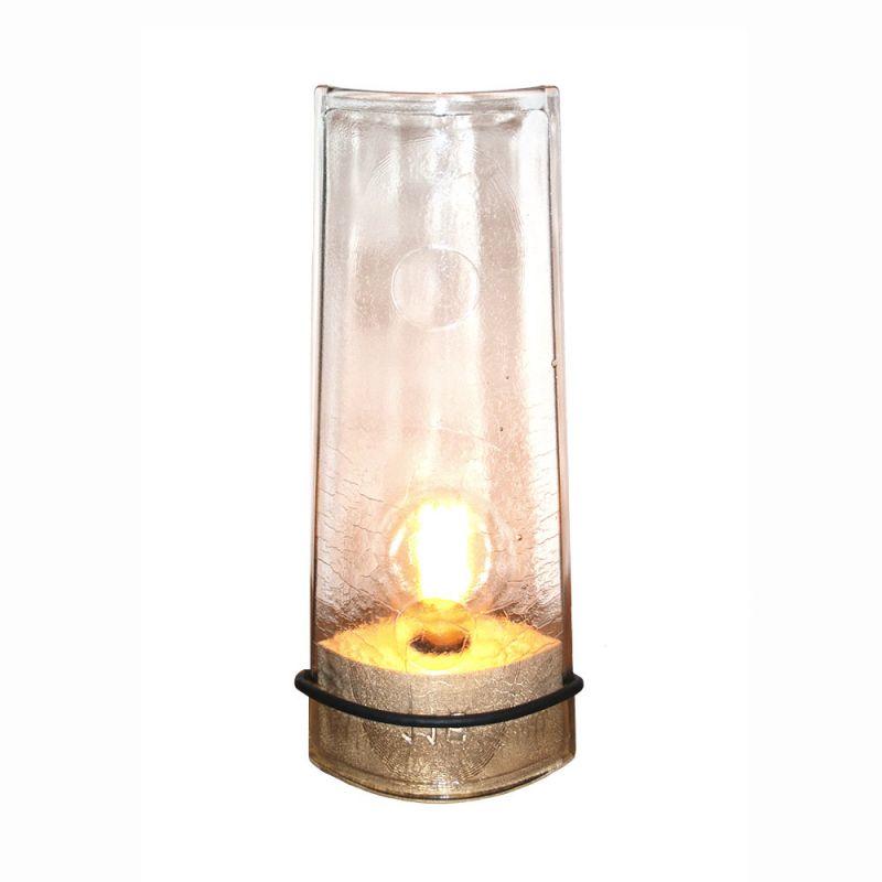 Lampe poser industrielle en verre par raumgestalt for Objet deco a poser