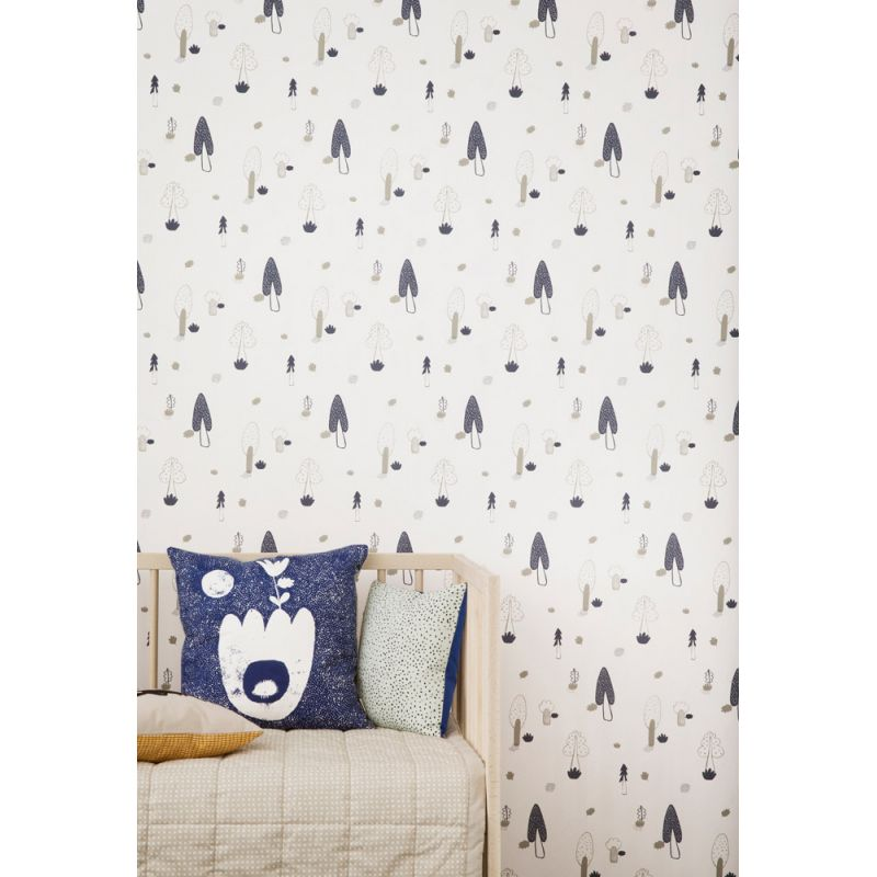 papier peint enfant bleu papier peint ferm living forest. Black Bedroom Furniture Sets. Home Design Ideas