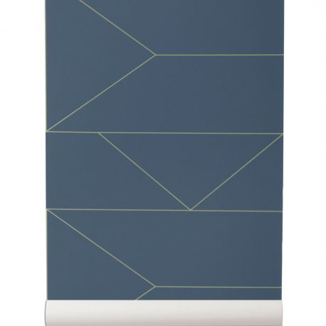 Papier Peint Lines Bleu foncé
