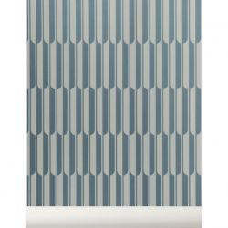 Geometric bleu wallpaper