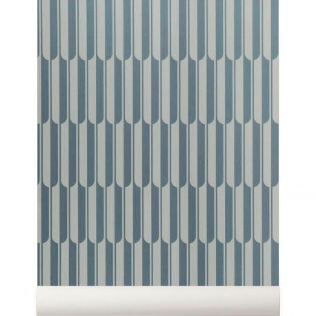 Papier peint géometrique Bleu