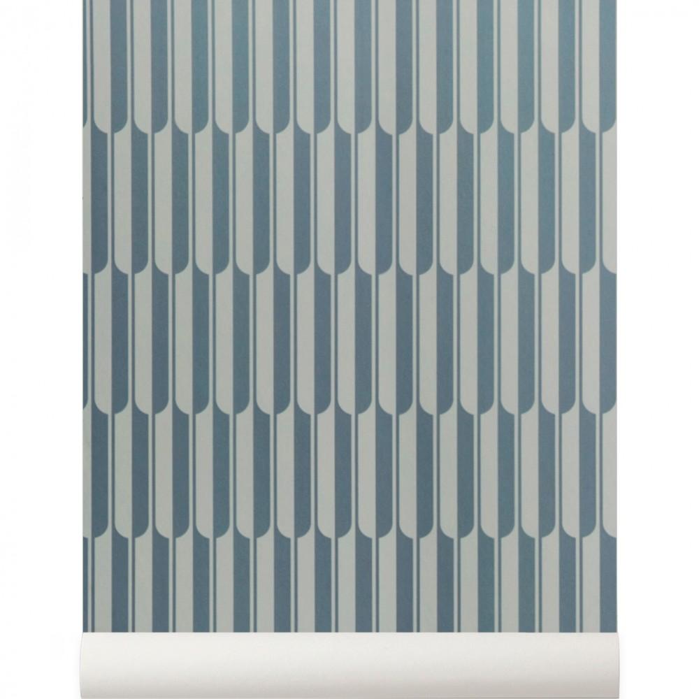 peint intiss g om trique bleu par ferm living collection arch. Black Bedroom Furniture Sets. Home Design Ideas