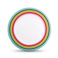 Stripy dessert plate Remember