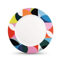 Assiette en porcelaine Solena remember