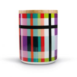 Zigzag porcelain canister Remember