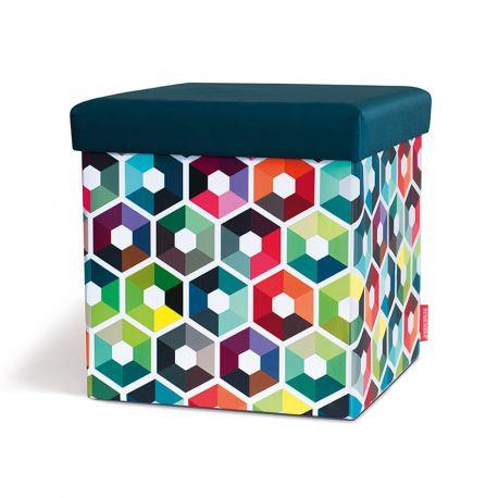 Pouf de rangement Hexagon Remember