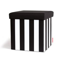 Tabouret de rangement Black and White Remember