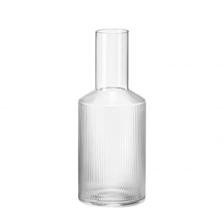 Ripple glass carafe Ferm Living