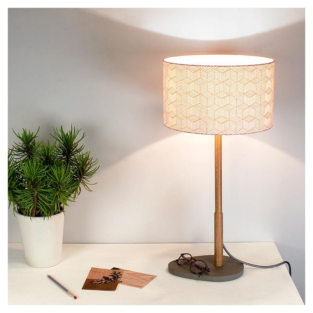 lampe poser pied bois helios par reine m re. Black Bedroom Furniture Sets. Home Design Ideas