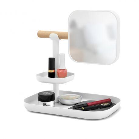 Organisateur maquillage blanc