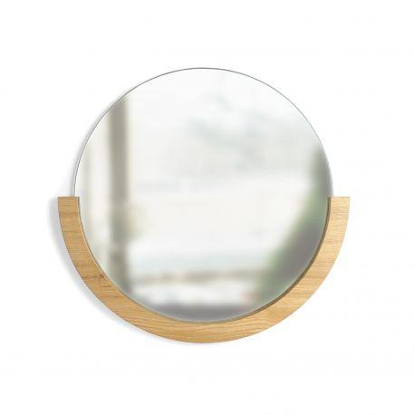 Miroir rond bois Umbra