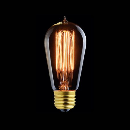 Vintage Edison Bulb With Zig Zag Filament