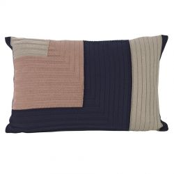 Rectangular cushion Angle Dark Blue Ferm Living
