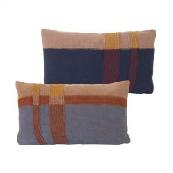 Petit Coussin Rectangle Medley Bleu Gris Ferm Living