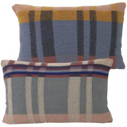 Coussin Rectangle Medley Bleu Gris Ferm Living