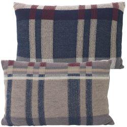 Medley Dark Blue Rectangle Cushion Ferm Living
