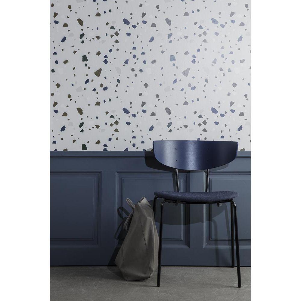 papier peint terrazzo par ferm living gris imprim. Black Bedroom Furniture Sets. Home Design Ideas