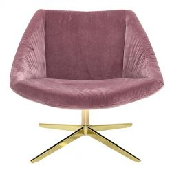 Bloomingville armchair rose and gold
