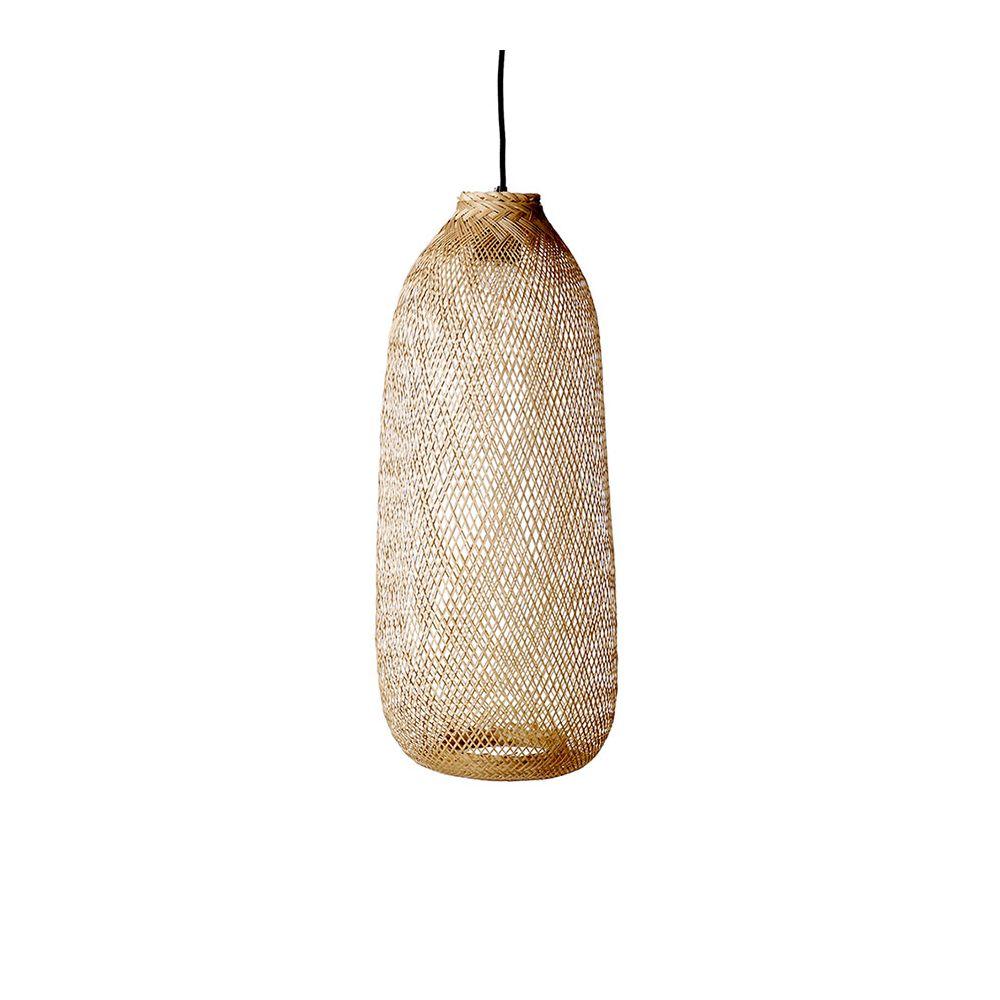 Suspension ronde en bambou par bloomingville - Suspension en bambou ...