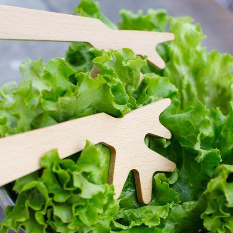 Couverts à salade en bois