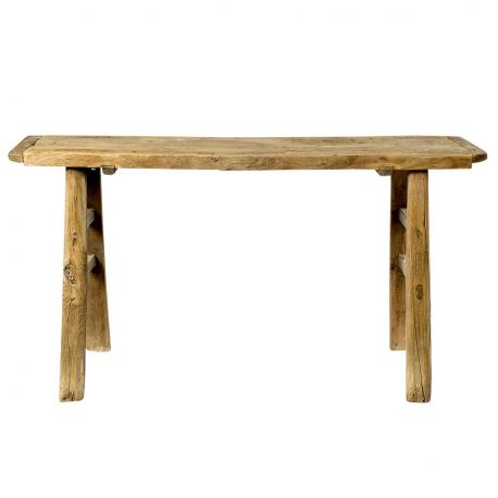 Table en bois massif brut Bloomingville