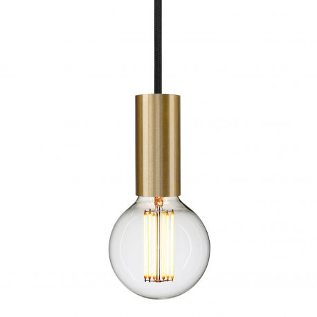 brass socket pendant with black cord