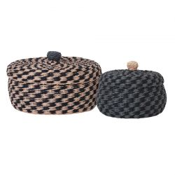 Braided basket with lid Ferm Living