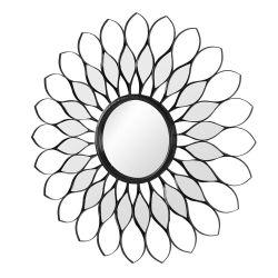 Black flower mirror