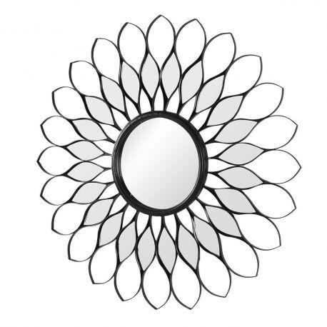 Miroir fleur noir