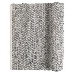 Light grey ZigZag rug Broste Copenhagen