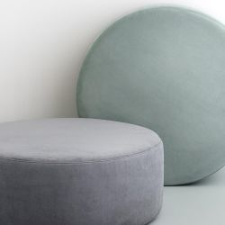 Scandinavian round pouf