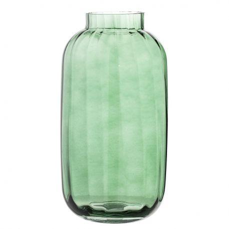 Vase en verre transparent vert