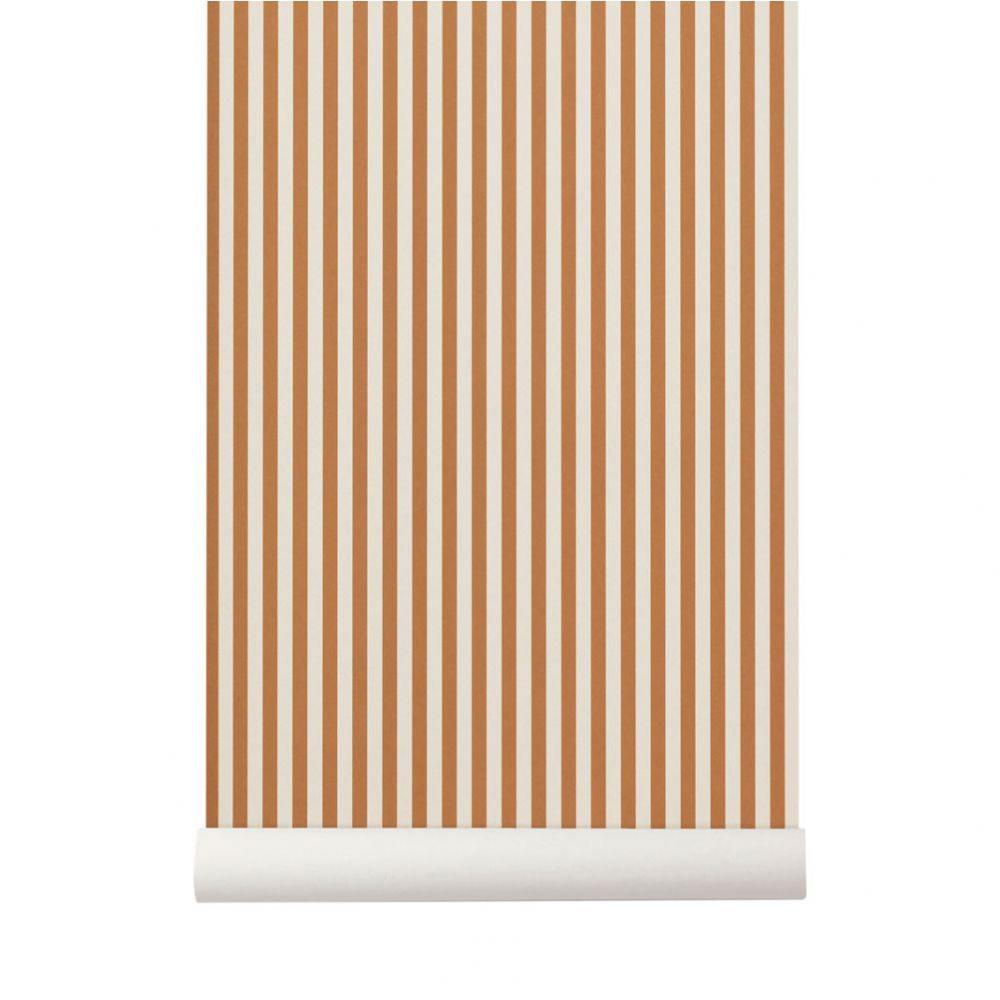 Papier Peint Jaune Moutarde papier peint thin lines moutarde / blanc cassé