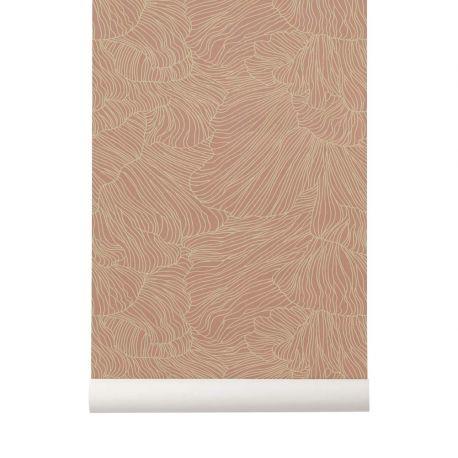 Papier Peint Ferm Living Papier Peint Design Rose Et Beige Coral