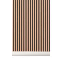 Papier Peint Thin Lines Vert / Rose