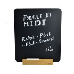 Table slate for menu