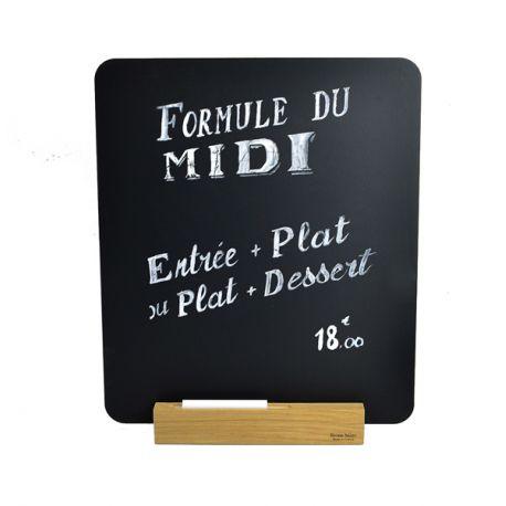 Ardoise de table pour menu