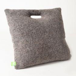 Coussin laine gris