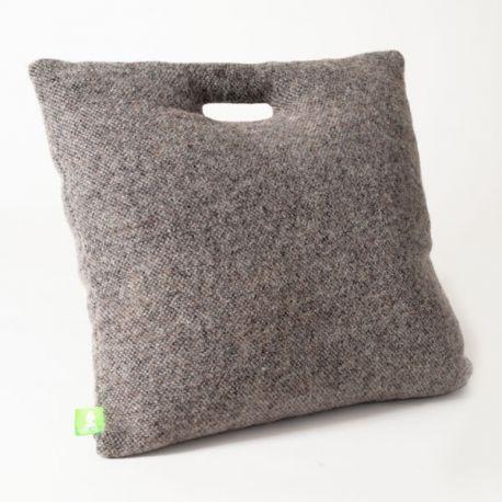 Grey wool cushion
