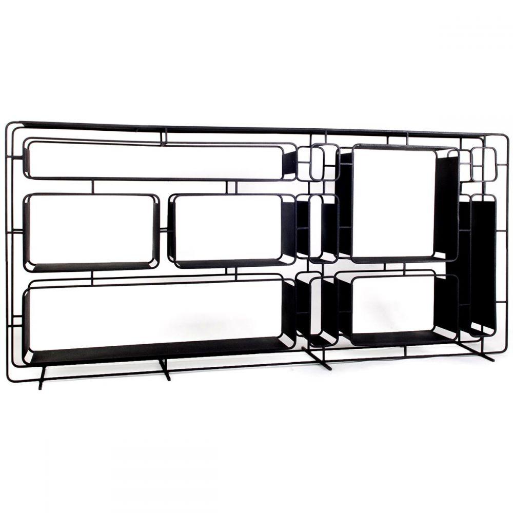 Grande étagère Design En Métal Noir Project L Par Xlboom