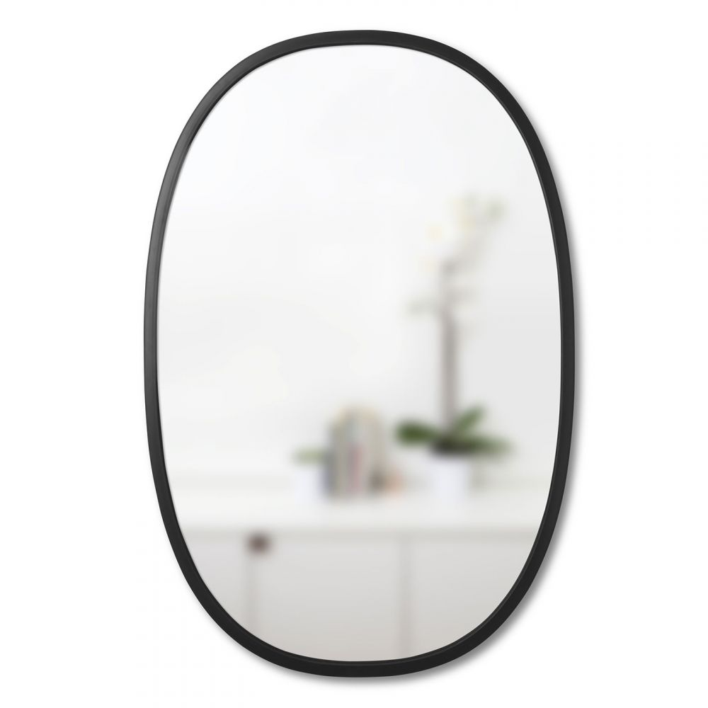 Umbra Mirror Design Black Oval
